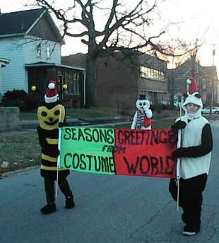 Costume World's Banner for the 1999 Christmas Parade here in Michigan City, IN.